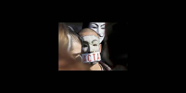 Dans les rues de Bruxelles contre le traité ACTA - La Libre