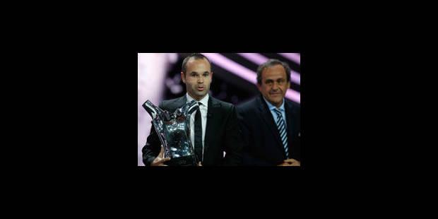 Andrés Iniesta, joueur UEFA de l'année - La Libre