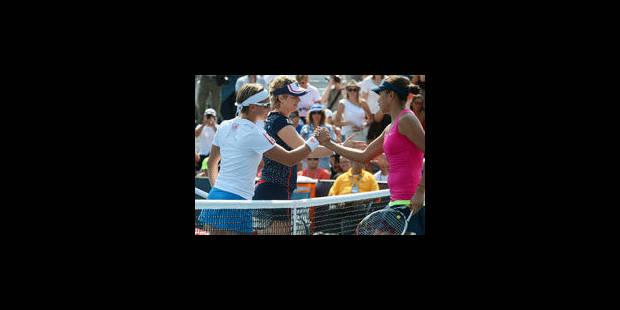 Kim Clijsters et Kirsten Flipkens éliminées en double