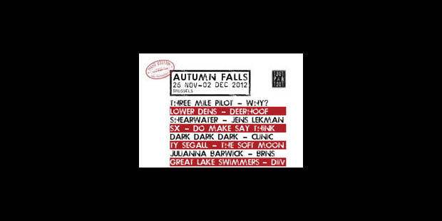 Concours: Remportez vos entrées pour le festival Autumn Falls 2012 - La Libre