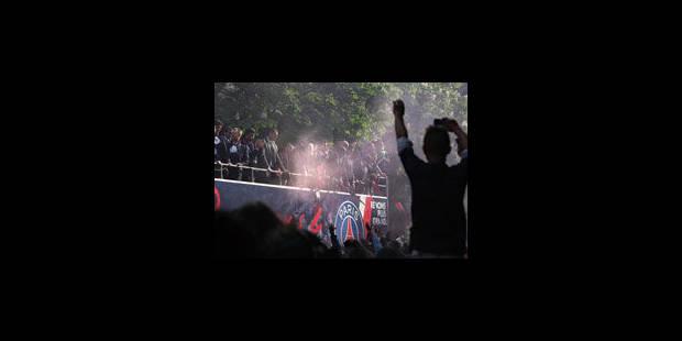 Des casseurs pour fêter le 3ème titre du PSG à Paris - La Libre