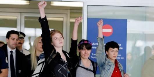 Tunisie : Les Femen libérées de retour à Paris - La Libre