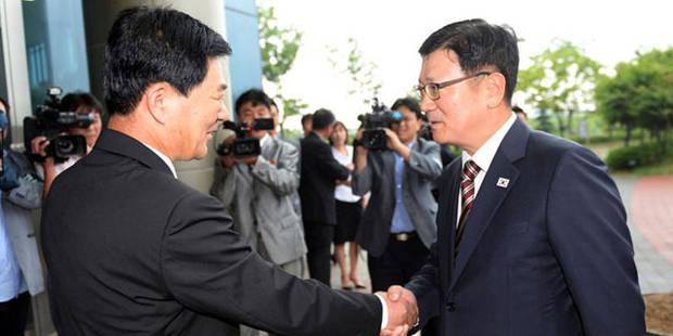 Les deux Corées se séparent sans accord - La Libre