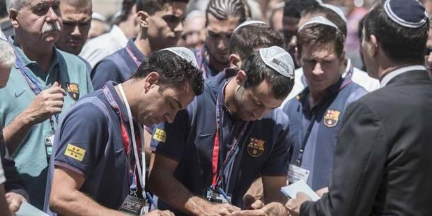 """Les stars du Barça """"messagers de la paix"""" pour Shimon Peres - La Libre"""