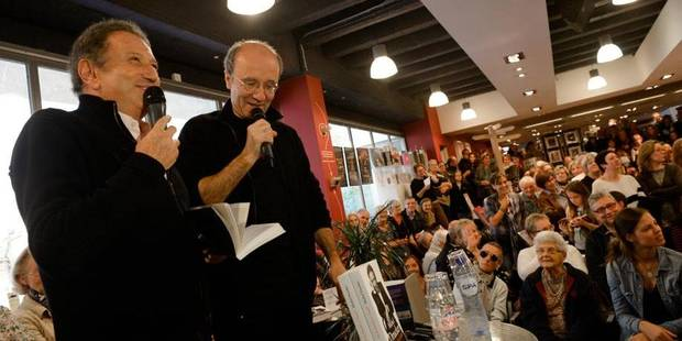 Bruxelles - Librairie Filigranes: Michel Drucker Philippe Geluck et Marc Filipson
