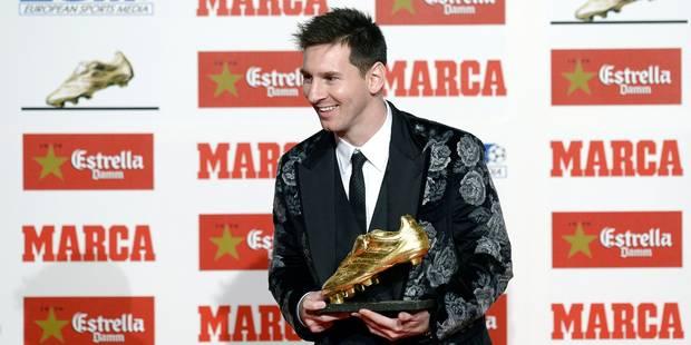 Lionel Messi reçoit son troisième Soulier d'Or européen, un record - La Libre