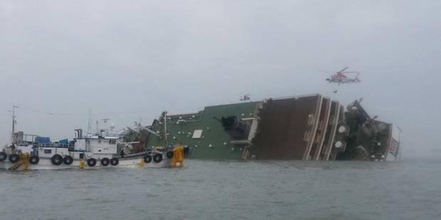 Naufrage d'un ferry en Corée du Sud: 300 personnes manquent encore à l'appel - La Libre