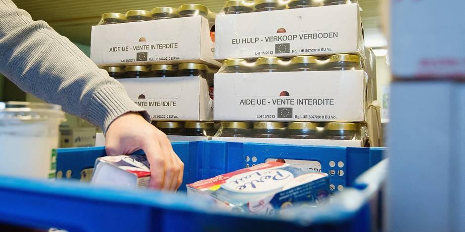 distribution de nourriture par Saint Vincent de Paul - Schaerbeek
