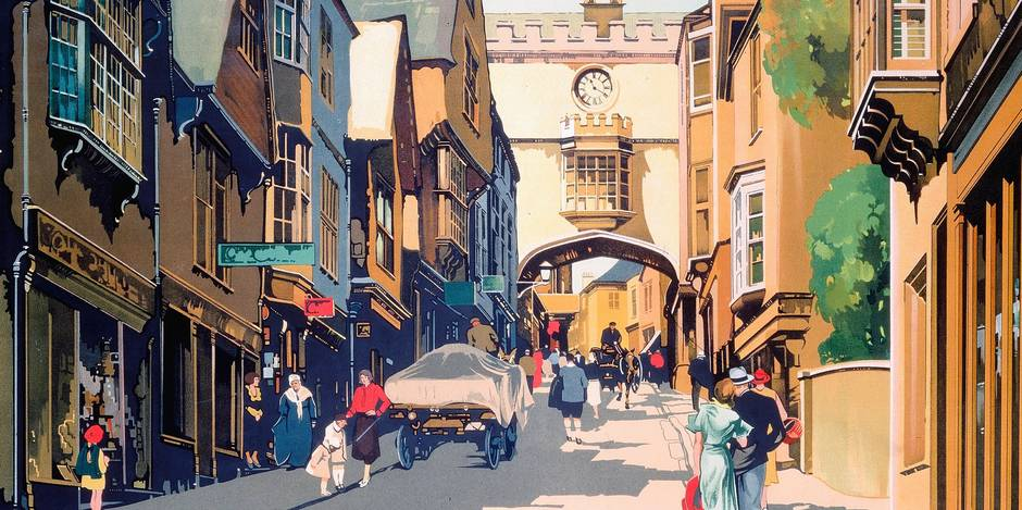 Great Western Railway (GWR) poster. Artwork by Claude Buckle.