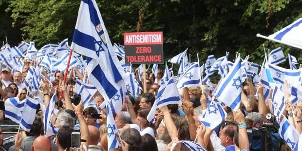 Manifestation de soutien devant l'ambassade d'Israël à Bruxelles - La Libre