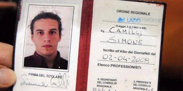 Simone Camilli, mort à Gaza