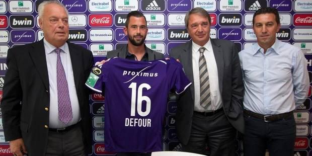 """Defour à Anderlecht: """"Mon objectif ? Redevenir le joueur que j'étais !"""" - La Libre"""