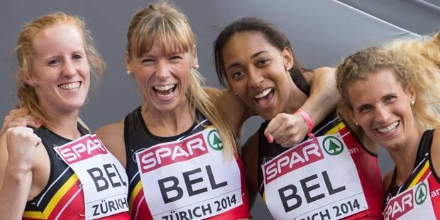 Athlétisme : la Belgique en finale du relais 4x400 m féminin et masculin - La Libre