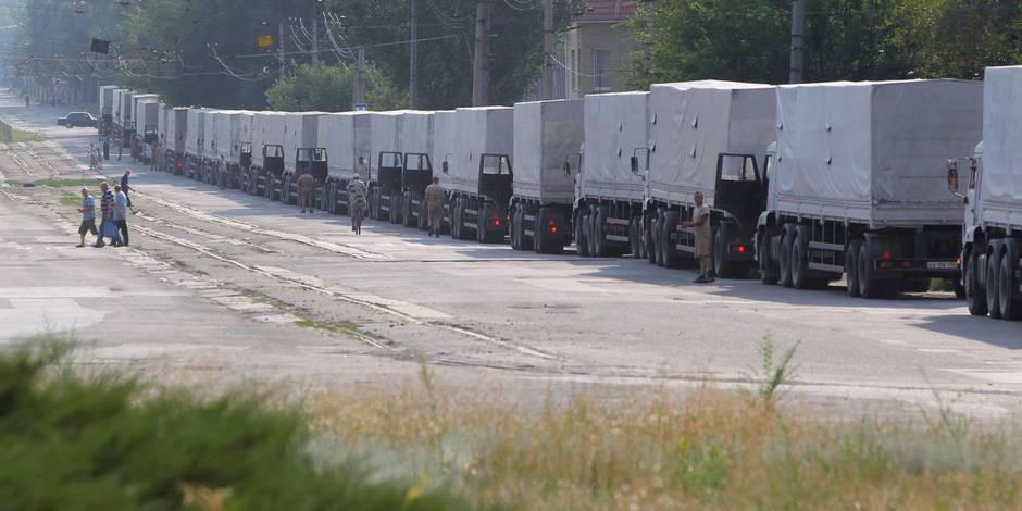 Tous les camions du convoi humanitaire russe sont revenus d'Ukraine