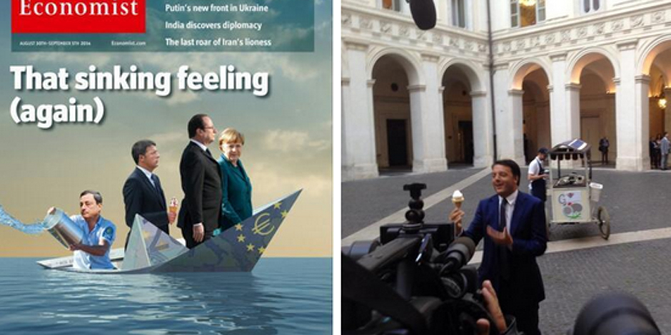 Matteo Renzi joue le marchand de glaces pour répondre à The Economist