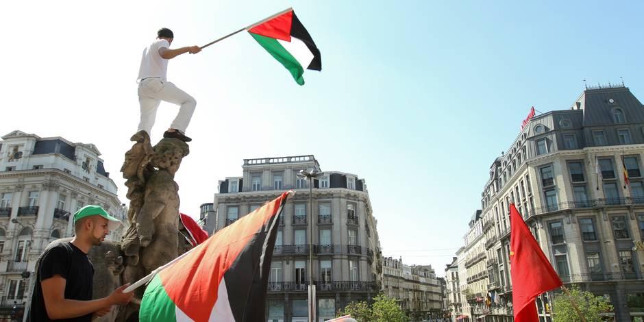 Manifestation pro-palestinienne à Bruxelles pour la levée du blocus sur Gaza