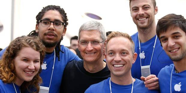 site réputé 7f4f0 fae84 Chez Apple, on plie les employés comme des iPhones 6 - La Libre