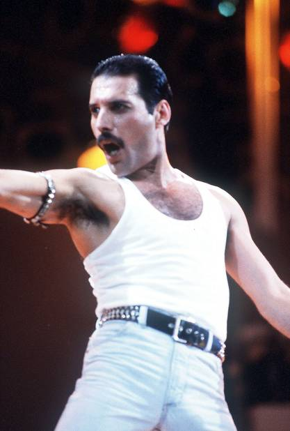 Freddie Mercury se laisse pousser la moustache au début des années 1980. Il la porte pour affirmer son homosexualité.