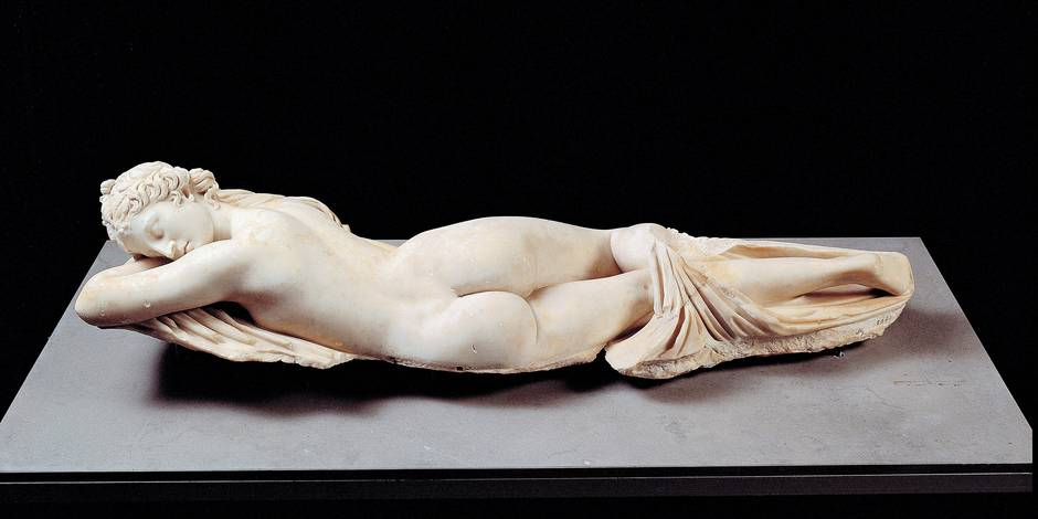 Unknown artist, Sleeping Hermaphrodite, 2nd Century, Luni marble, full relief, Italy; Lazio; Rome; Palazzo Massimo alle Terme