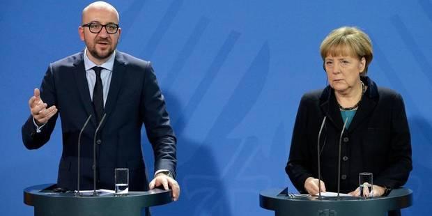 Charles Michel rassure Angela Merkel sur la stabilité de la Belgique - La Libre