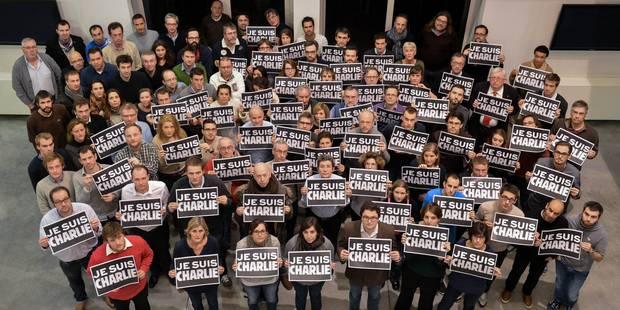 Les journalistes de La Libre et de la DH se mobilisent pour Charlie Hebdo - La Libre