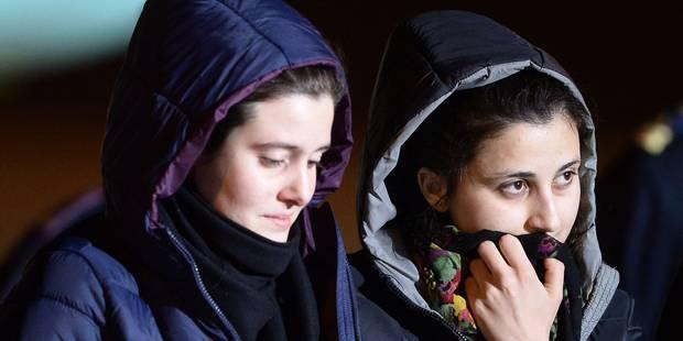Deux jeunes humanitaires italiennes enlevées début août en Syrie rentrées à Rome - La Libre