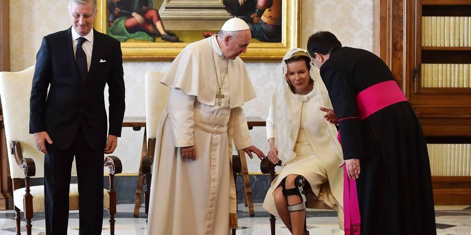 Philippe et Mathilde reçus par le pape au Vatican (Photos)