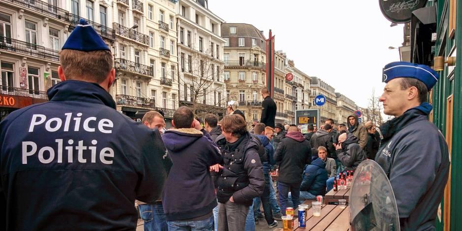 Coupe de Belgique: 28 arrestations admisnistratives, circulation des bus perturbée dans le centre