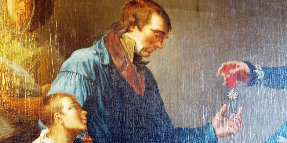Les Liégeois agenouillés au passage de Napoléon