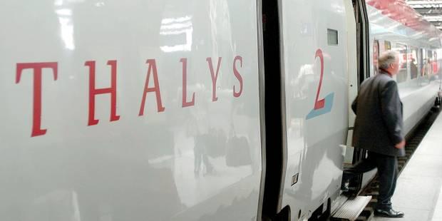 Syndicats et usagers ont pris une dernière fois le Thalys wallon - La Libre