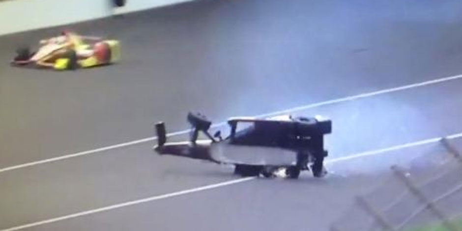 Un terrible accident sur le circuit d'Indianapolis (Vidéo)
