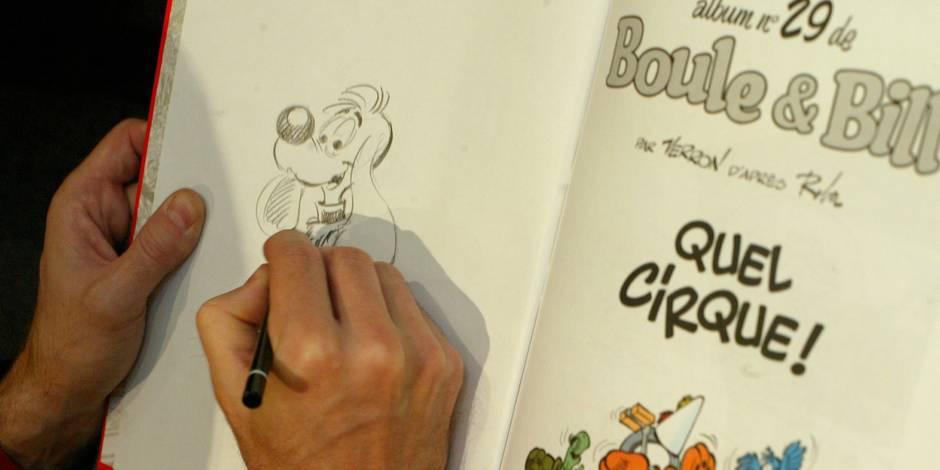 Des dessins d'Hergé et de Roba dispersés aux enchères à Paris