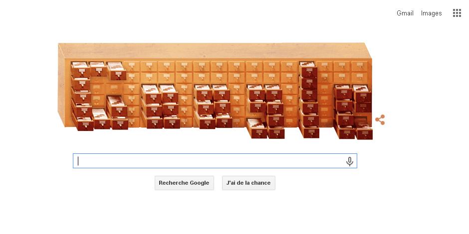 """Google rend hommage au créateur belge du Mundaneum avec un """"doodle"""" spécial"""