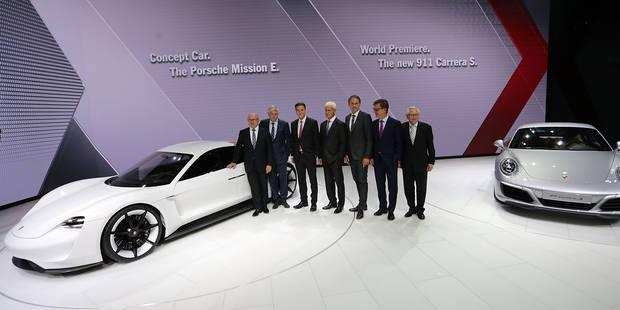 Salon de Francfort: Porsche réplique à Tesla - La Libre
