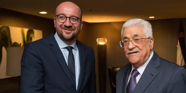 Assemblée générale de l'ONU: Charles Michel s'entretient avec Mahmoud Abbas sur le processus de paix - La Libre