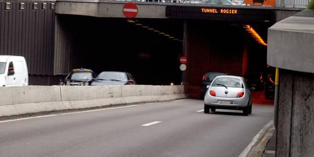 Les tunnels Rogier et Botanique fermés après la chute d'un bloc de béton - La Libre