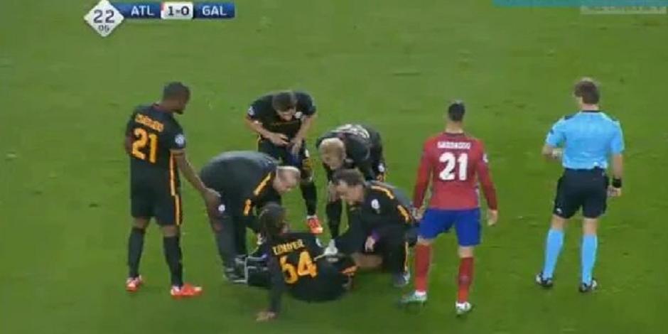 Belges en C1: Denayer sort blessé (VIDEO)