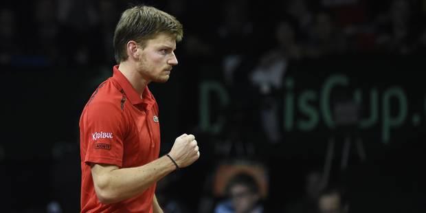 """Goffin offre à la Belgique son premier point en finale de la Coupe Davis : """"Je me sens très bien"""" - La Libre"""
