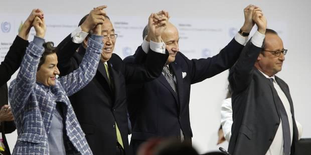 Accord mondial adopté par la COP21 pour lutter contre le réchauffement climatique - La Libre