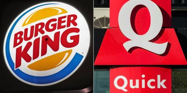 Burger King a bouclé le rachat de Quick - La Libre