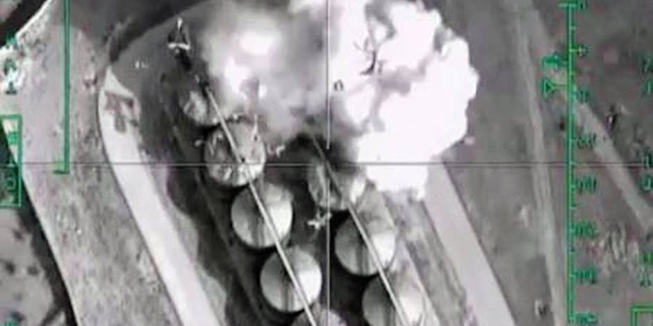 Airstrike Against Isis-Controlled Oil Storage Near Al-Thawrah City
