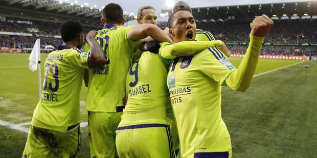 Vrais-faux hors-jeux, pénos et cartes jaunes: Anderlecht bat Bruges au terme d'un match fou (1-4) - La Libre