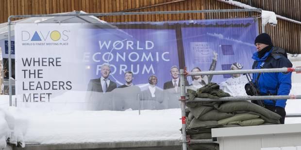Davos: croissance en péril, attentats, crise migratoire au menu du premier jour - La Libre