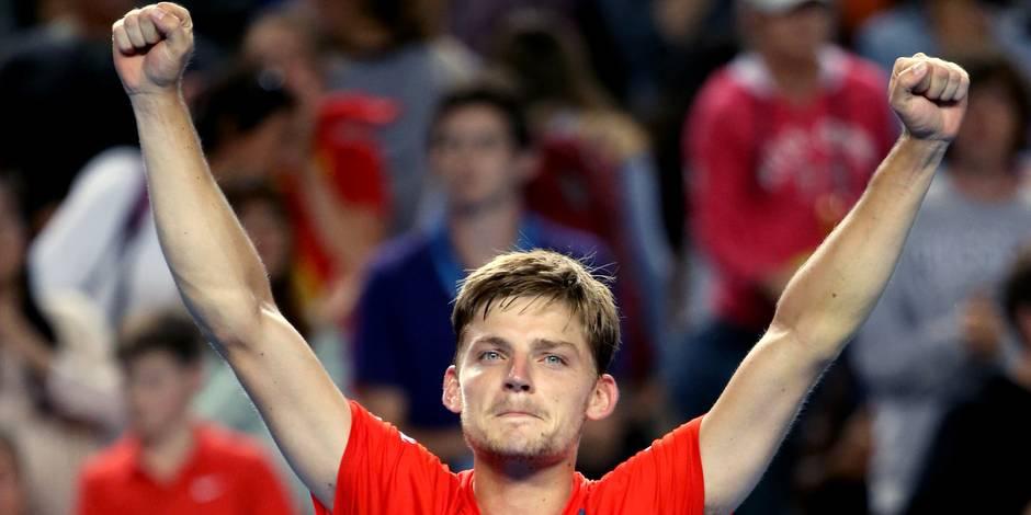 Open d'Australie: David Goffin qualifié pour les 8e de finale