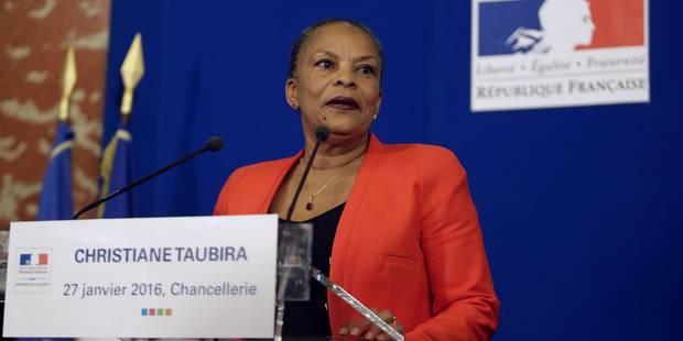 """Taubira : """"Je quitte le gouvernement sur un désaccord politique majeur"""" - La Libre"""