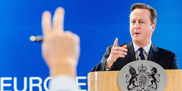 British Prime Minister David Cameron addresses the media after an EU summit in Brussels on Friday, Dec. 18, 2015. European Union leaders are reconvening in Brussels for the final day of their year-end summit with a wide-ranging agenda including how to build greater economic unity among their 28 countries and stepping up the fight against extremism. (AP Photo/Geert Vanden Wijngaert)