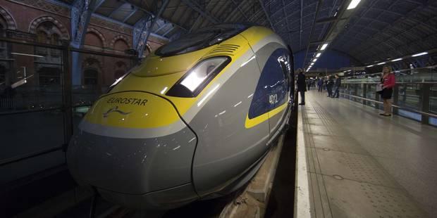 """Un train Eurostar """"Londres-Bruxelles"""" a percuté des objets sur les voies - La Libre"""