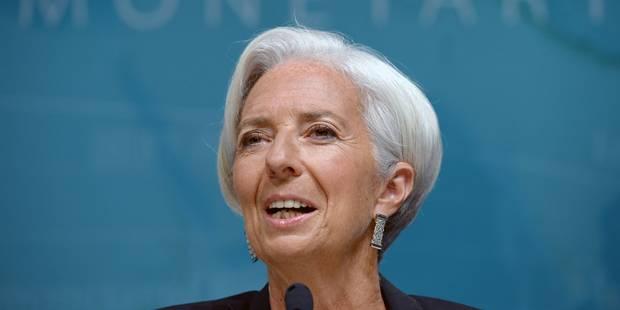 """Lagarde : """"La reprise dans les pays développés pourrait être plus forte"""" - La Libre"""