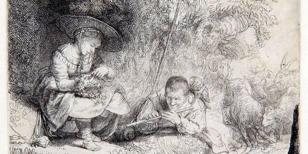 Bozar expose le jardin secret de Rembrandt - La Libre