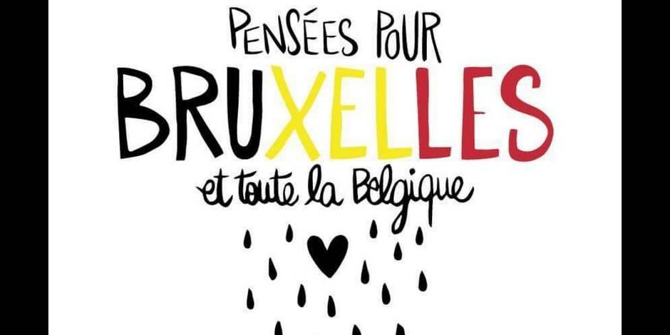 Explosions à Bruxelles : les twittos montrent leur soutien avec le hashtag #PrayForBelgium